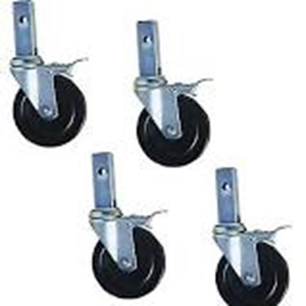 Casters Set of Four 03.0055 WP 196 Y 5